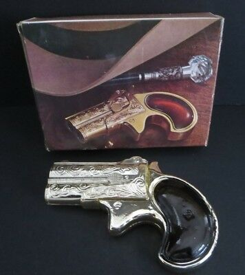 "Vintage Avon Canada ""derringer Pistol""    Decanter Bottle W/box  -Empty"