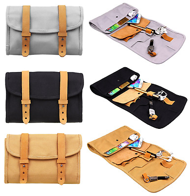Organiser Bag Storage Portable Foldable Roll Up Accessories Travel Clutch Pouch