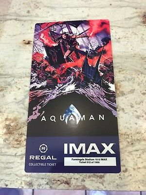 Aquaman Regal IMAX Collectible Ticket (Numbered)