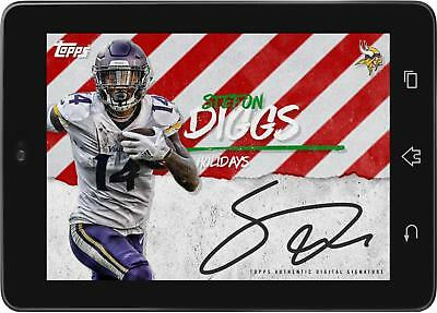 9072a4eb7ff TOPPS HUDDLE STEFON Diggs SIGNATURE CHRISTMAS 2018  DIGITAL CARD ...