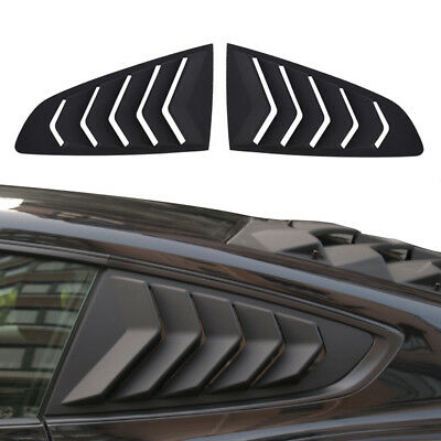2PCS GT Lambo Style Quarter Side Window Scoop Louvers For Ford Mustang 2015-2018