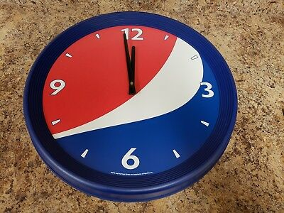 New Old Stock Never Used Pepsi Wall Clock Battery Operated 18 Inches Diameter