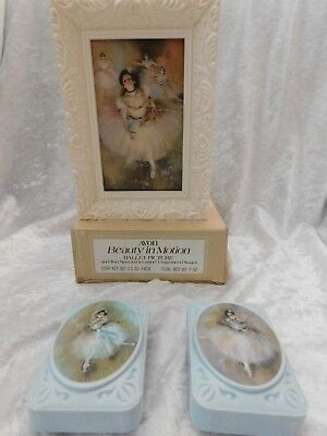 Vintage Avon 1978 Beauty In Motion Ballet Picture & 2 Special Occasion Soaps NIB