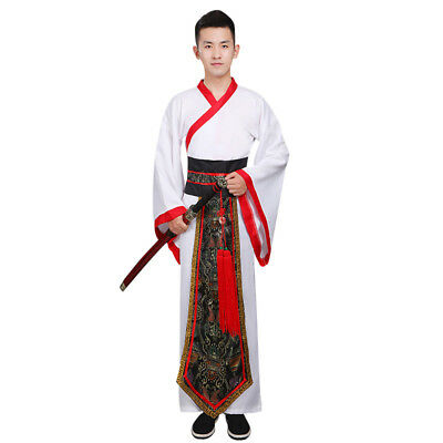 Chinese Han Clothing Men Ancient Minister Chivalry Cosplay Han Dynasty Costume