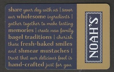 Noah's no value collectible gift card mint #15 Gold Blue