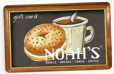 Noah's no value collectible gift card mint #05 Bagel Coffee