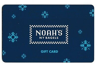 Noah's no value collectible gift card mint #17 Blue Snowflakes