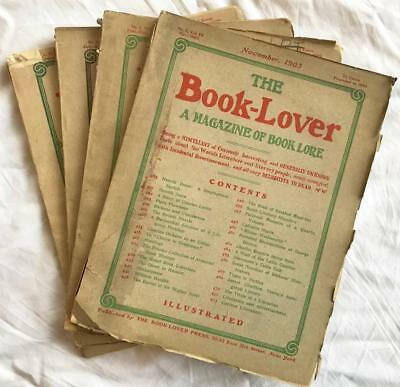 The Book-Lover Magazine 4 Issues 1903