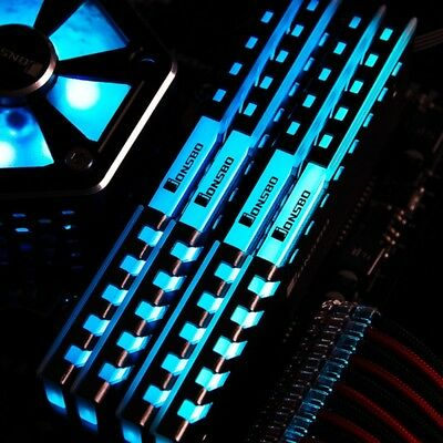 2PC Memory Heatsink Motherboard AURA Cooling Vest RGB 256 Color Light Radiator