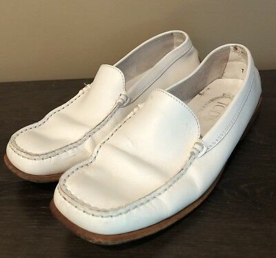a1761be4545 TODS CITY GOMMINO Cream Leather Driving Moccasins Shoes 39 M Loafers ...