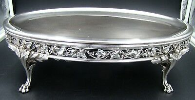 Art Nouveau French Charles Christofle Warmer Tray Ivy Design Silver Plated RARE