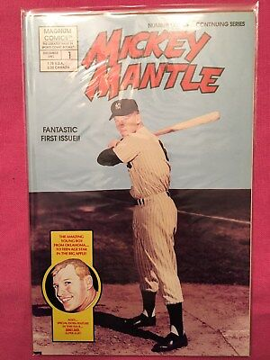 Magnum Comics Mickey Mantle #1 Dec 1991 Bagged & Boarded Point of Purchase NM++