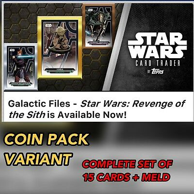 REVENGE OF THE SITH GALACTIC FILES COMPLETE SET + MELD AWARD Star Wars Digital