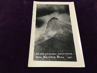Antique Postcard Cascade Mountains Near Winthrop Wash 330 Real Photo Unposted