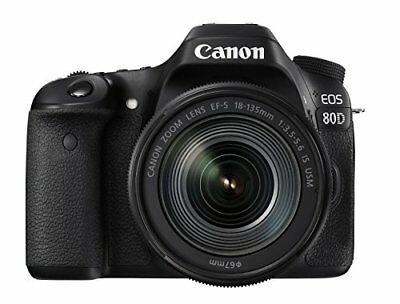 Canon DSLR Camera EOS 80D Lens Kit EFS 18-135mm F3.5-5.6 IS USM 80D18135USMLK