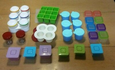 Baby Food Containers - Various Brands Plastic Containers. Random Sizes