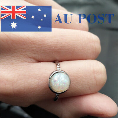 Fashion Women Crystal Silver Plated Engagement Wedding Party Ring Jewelry Gifts