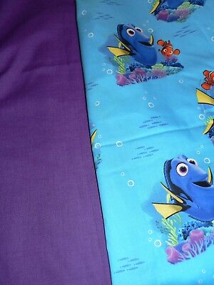 Kids Handmade Art Smock First Name Embroidered Free Finding Dory Print