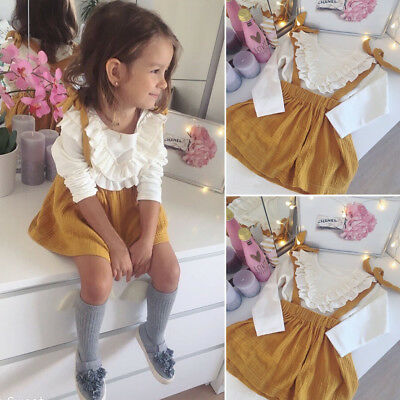 Toddler Kids Baby Girls Clothes Tops T-shirt+Tutu Skirt Dresses 2pcs Outfits Set