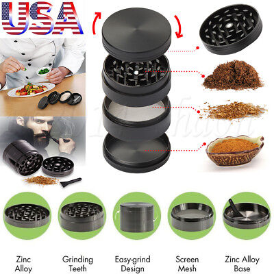 2 inch Tobacco Herb Grinder Spice Herbal Zinc Alloy Smoke Crusher 4 Pieces Metal