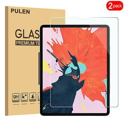 (2 pack) Tempered Glass Screen Protector For iPad Pro 2018 (12.9 Inch )
