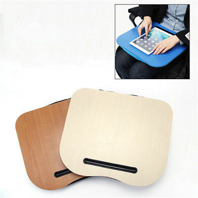 Cushion Knee Lap Portable Desk Bed Handy Laptop Stand Tray Cup Holder