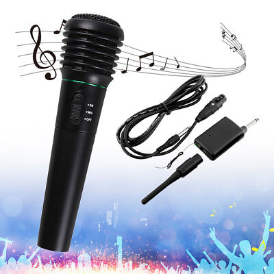 Wired&Wireless Microphone System 2/1 Cordless Handheld Mic For Karaoke Stage KTV