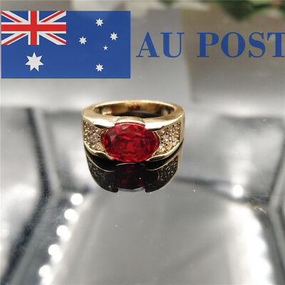 Fashion Women Rings Crystal Gold Plated Birthday Party Wedding Jewelry Gifts