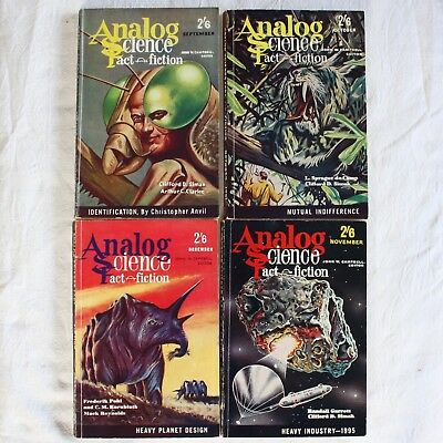 ASTOUNDING SCIENCE FICTION 12x 1961 Complete Year British Edition Lot Vintage