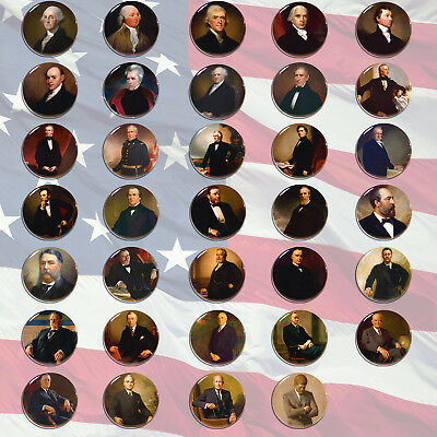 Presidents of the United States Pin back Badge Button Tin 5.8cm Decor Collection