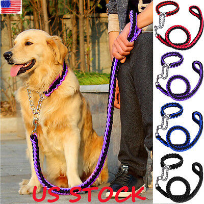 US Strong Dog Pet Lead Leash Splitter Coupler with Clip Dag Chain Collar Harness