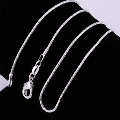 Wholesale 1mm 925 Sterling Silver Filled Snake Chain Necklaces For Pendants