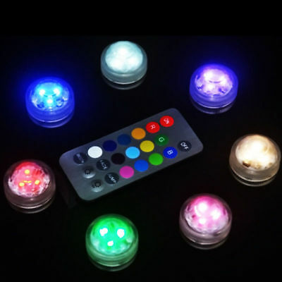 RGB Sumergible de Lámpara Luz LED con Mando a Distancia Multi-color Decorativa
