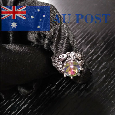 Fashion Women Ring Silver Plated Engagement Wedding Party Retro Jewelry Gifts
