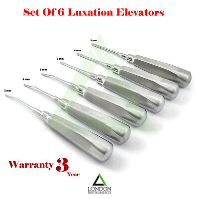 Tooth Extraction Root Elevators Luxation Elevators 3 mm, 4 mm, 5 mm, Surgical CE