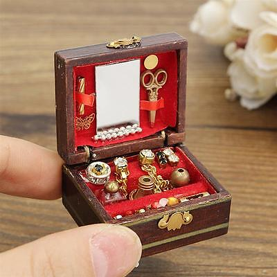 1/12Dollhouse Miniatures Jewelry Box /Doll Room Decor House Accessory new