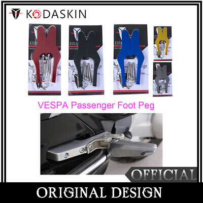 Passenger Foot Peg Extensions Footpegs for Vespa GT GTS GTV 60 125 200  250 300