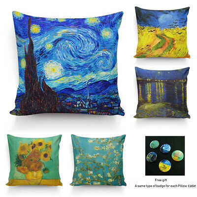 Painting By Vincent Van Gogh High Quality Silk Pillowcase Decor Cushion Cover I