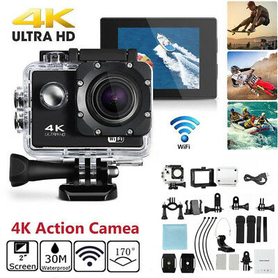 4K Ultra HD 1080P Sports Action Camera WIFI Waterproof Video Recorder Camcorder