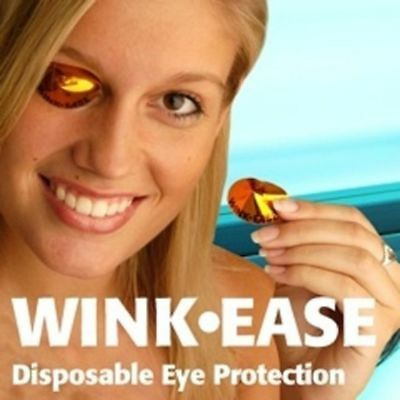 Wink Ease Disposable SunBed, Solarium Stick on Eye Protection Tanning Goggles