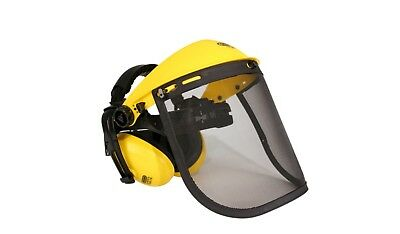Face Shield/visor/mesh With Ear Muffs For Strimmer, Brushcutter, Power Tool Ppe