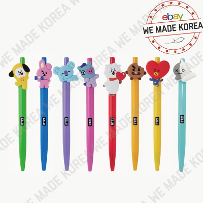 BTS BT21 Character Black Ink Gel Pen Season 2 Official K-Pop Authentic Goods