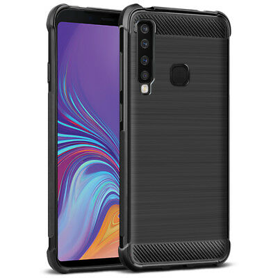 Imak Shockproof Carbon Fiber Airbag TPU Case Cover for Samsung Galaxy A9 (2018)