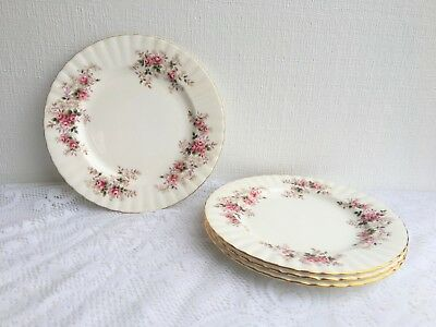 Set of Four (4) Royal Albert Lavender Rose Luncheon Plates (87)