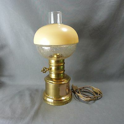 French Antique Vintage Brass Table Lamp (Lamp Oil Imitation)