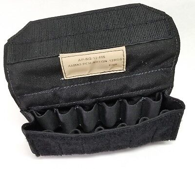 Eagle Industries 12 Round Shotgun Shell Ammo Pouch Black MOLLE AP-SG/12-MS