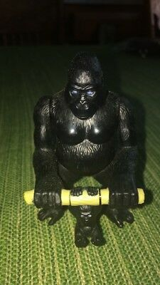 Small Animal Black Gorilla Toy Figure With Baby Gorilla Twistable Flexible