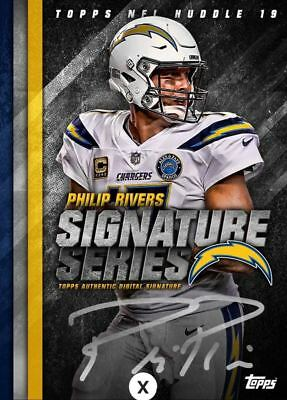 18-19 SIGNATURE SERIES BASE PHILIP RIVERS Topps Huddle Digital Card