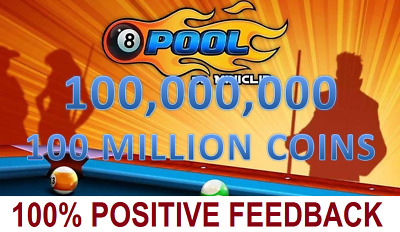 8 Ball Pool Coins 100 Millions | 1-2 Hours deliver | LEGIT