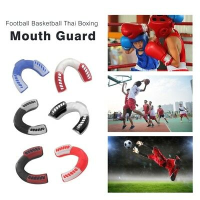 Gum Shield Mouth Guard Boxing Rugby Gel piece Teeth Grinding MMA Protector Kick